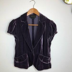 BCBGMaxAzria Silk Velvet Cropped Jacket